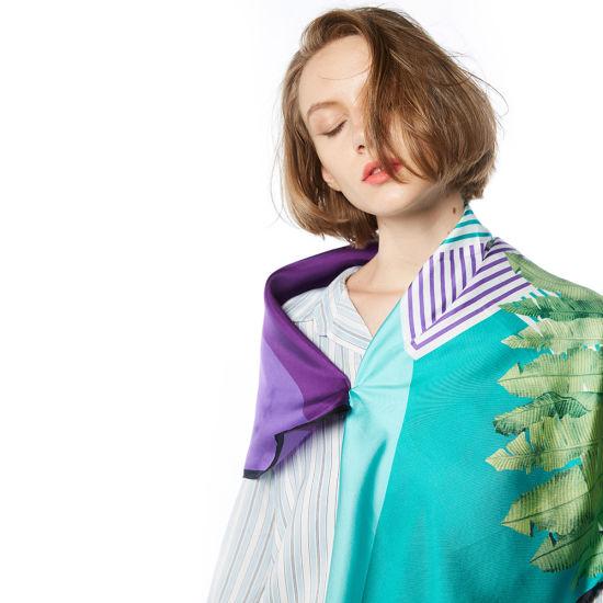 Digital Print 100% Silk Twill Custom Scarf Factory Direct