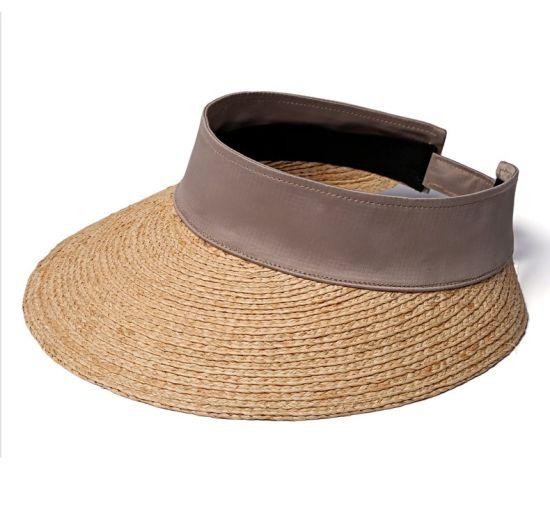 68968806080fe Wide Brim Simplicity Women′s 100% Paper Summer Breathable Straw Visor Hat