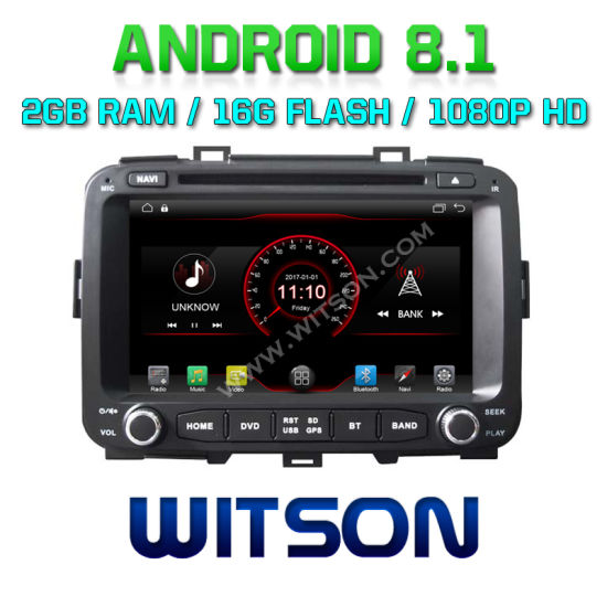 china witson quad-core android 8.1 car gps dvd player for kia carens