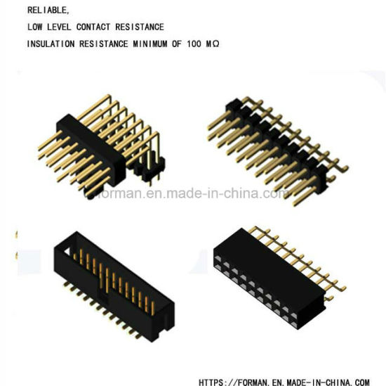 Pin Header Single Row Double Rows DIP Type and SMT Type Series Connector with Single Housing and Dual Housings