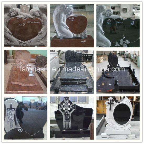 China Cheap Black Granite Carvingflatengravingvasesangelbench