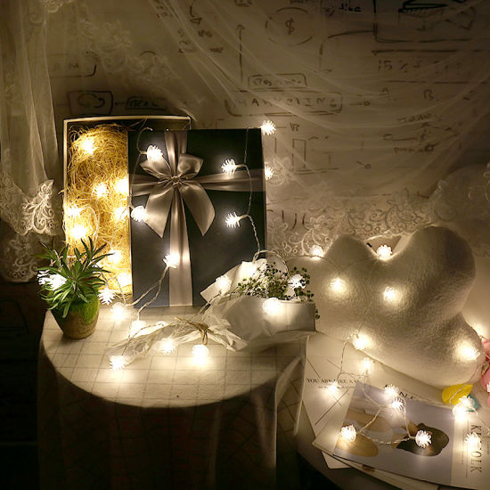 LED Pine Cone Solar String Lights for Xmas Christmas Decoration