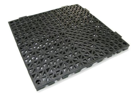 PVC Safety Shower Lab Tile Black/Anti-Slip Floor Tile, No Sustion Cuo Bath Mat