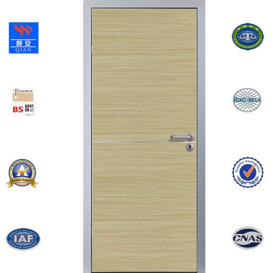China Ecotype Melamined Wooden Door Waterproof Bathroom Door With