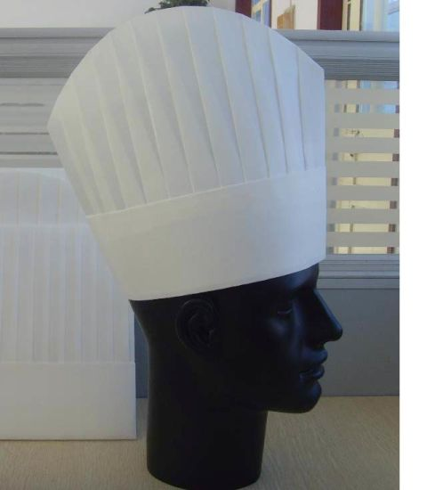 Disposable Paper Chef Hat for Hotel and Kitchen Use