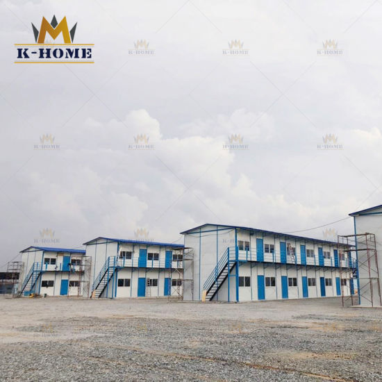 Insulated Sandwich Panel Prefabricated Labour Colony Steel Structure House in Malaysia