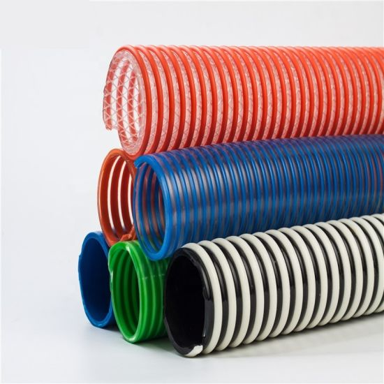 Jubo Good Price Big Size PVC Spiral Reinforced Flexible Spring Suction Hose pictures & photos