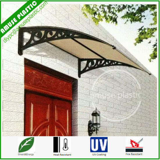 Easy Assembled DIY Awning Polycarbonate Windows Doors Shutter Canopy Shed Sunshade