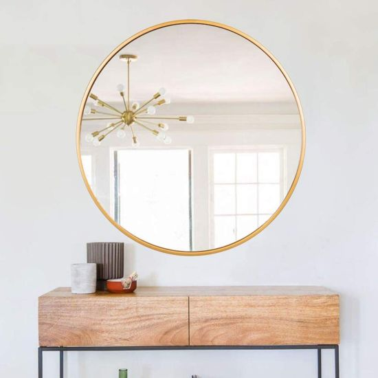 Large Round Wall Mirror Suppliers, Large Gold Frame Circular Mirror