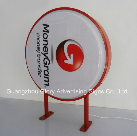 Round Circle Crystal LED Light Box Advertising Crystal Light Box pictures & photos