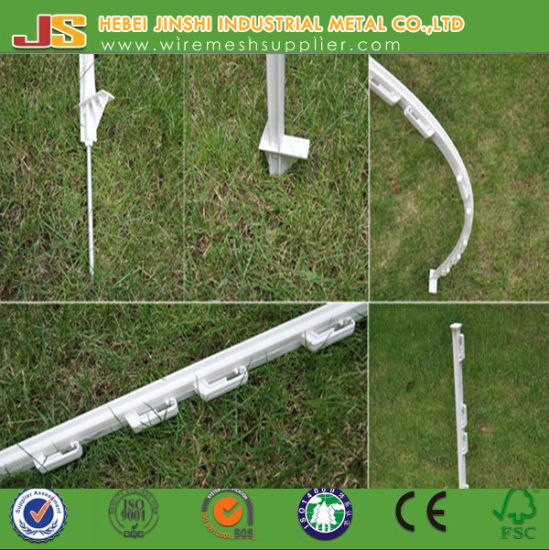 4FT White PP Electric Fencing Post