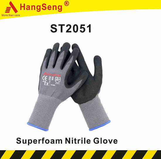 Atg Maxiflex Style Micro Super Foam Nitrile Coated Work Safety Glove for Automative Industry