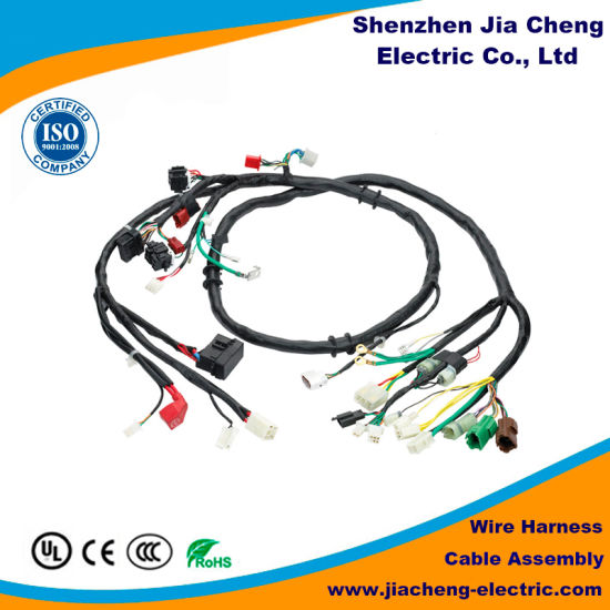 PVC Insulation Copper Wire Electric Scooter Harness with Different on spark plug types, door handle types, safety harness types, circuit breaker types, valve types, battery types, seat belt types, lights types, suspension types, antenna types, engine types, power supply types, fan types,