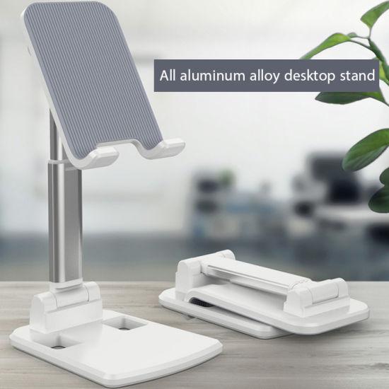 Aluminum Alloy Adjustable Angle Desktop Mobile Phone Holder/Tablet Stand