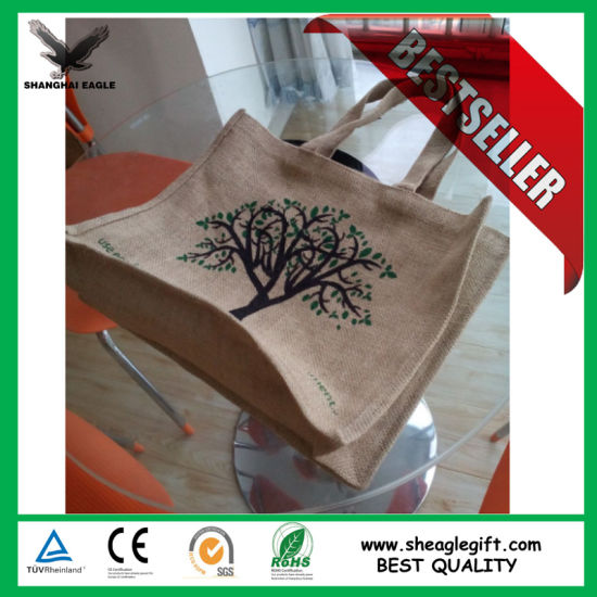 Stylish Customized Jute Shopping Tote Bag pictures & photos