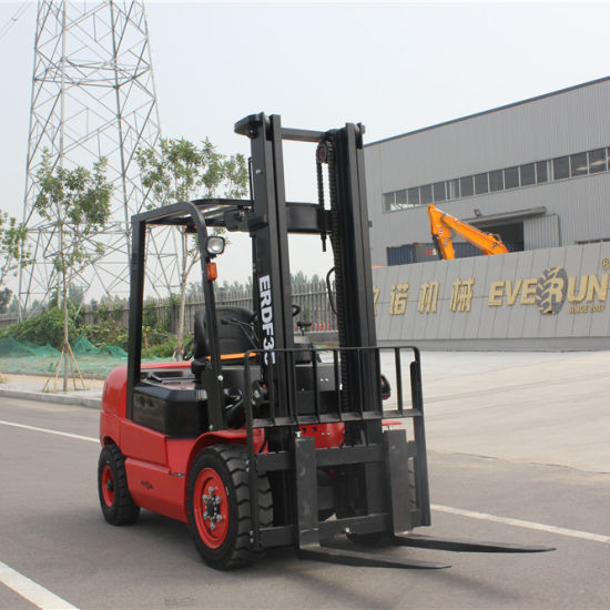 China Everun Erdf35 3.5ton New CE EPA Engine Certificated Chinese Portable Household Small Hydraulic Diesel Smart Manual Mini Forklift Truck for Sale