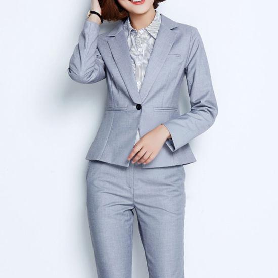 0022e5b828 New Design Ladies Formal Office Uniform Skirt Suit pictures & photos