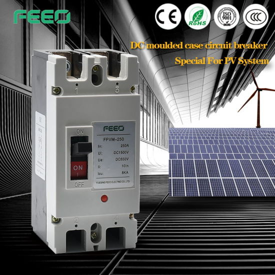 Photovoltaic 1000V 4phase CE Moulded Case Circuit Breaker pictures & photos