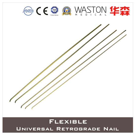 Titanium Universal Flexible Retrograde Nail for Both Children and Adults pictures & photos