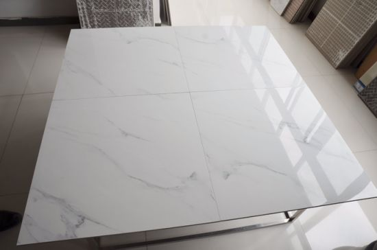 Textured Marble Pure White Floor Tiles