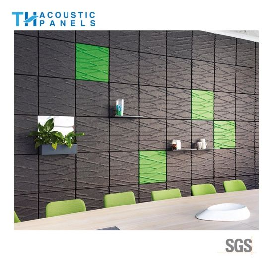Charmant Eco Friendly Sound Absorbing Panel 3D Polyester Fiber Decorative Wall Panel  For Office