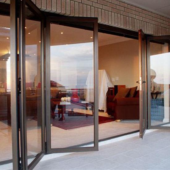 China Exterior Double Glazed Aluminum Glass Accordion Doors China