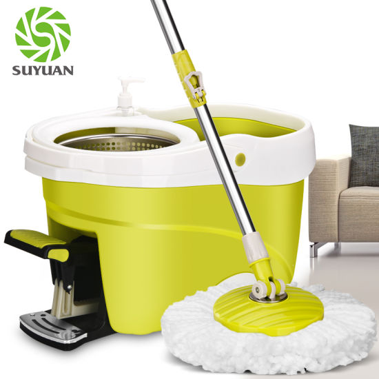 Suyuan Foot Pedal 360 Floor Cleaning Mop pictures & photos