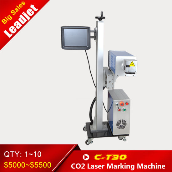 30 W Laser Marking Batch Expiry Date Coding Machine pictures & photos