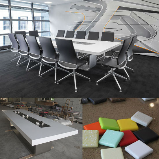 China Modern Style Luxury Office Furniture Corian Conference Table - 16 person conference table