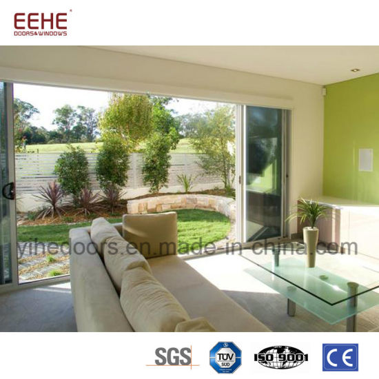 China Aluminum Sliding Interior Door For Balcony With Double