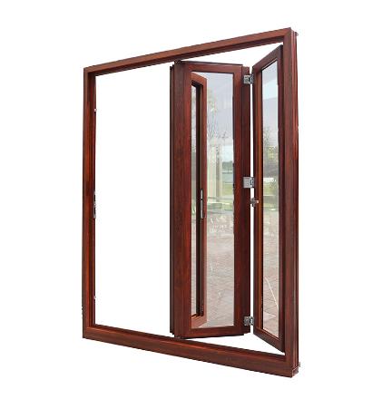 China Double Glass Alumium Folding Doors Interior Door China