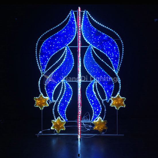 Rising Stars Motif Light for Street Decoration with Rope Light and Iron Frame pictures & photos