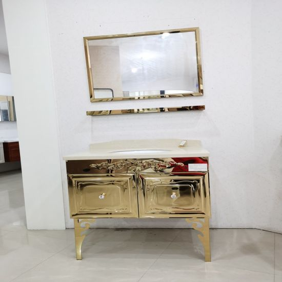 Manufacturer Stainless Steel Modern Hote Floor Mounted Bathroom Cabinets