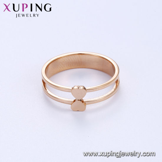 a78624896 China Two Heart Shaped Rose Gold Finger Ring - China Ring, Jewelry