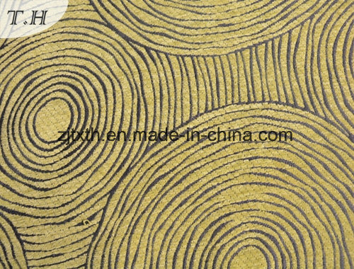 Gemotrical Design Chenille Decoration Fabric pictures & photos