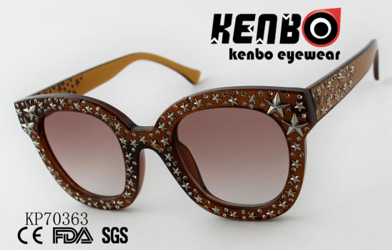 6afa155dbab2 China Cat Eye Sunglasses with Many Stars on The Frame Kp70363 ...