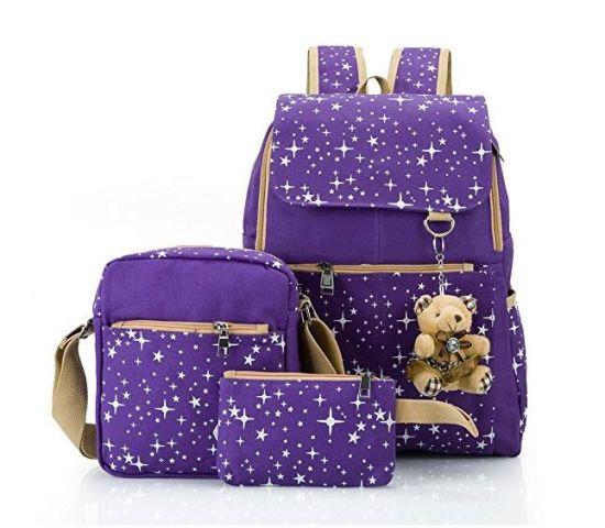 bccae9f473f6 China Girl School Bags Travel Canvas Rucksack Backpack School ...