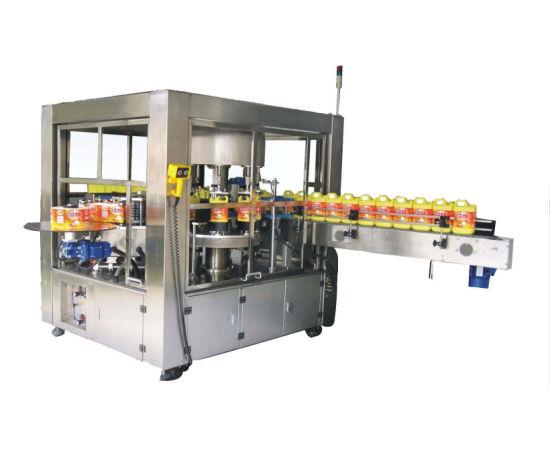 Automatic Water Bottle Carbonated Drink Bottle Roll-Fed Hot Melt Glue OPP BOPP Labeling Machine