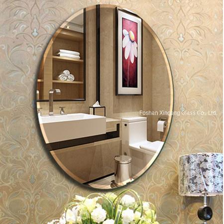 Round Or Square Shape Frameless Beveled Mirror Bathroom Mirror China Shelf Mirror Bathroom Mirror Square Shape Bathroom Mirror Made In China Com