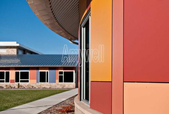 Anti UV Compact Phenolic Resin HPL Exterior Laminated Wooden Wall Panel