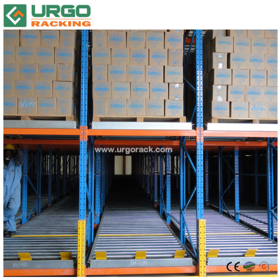 2018 Carton Slide Rail Roller Flow Rack for Pallet Racking Storage System
