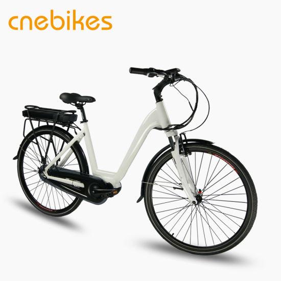 700c Rim 6061 Aluminum Alloy Electric Ladies Bike, Hybrid Bike