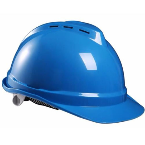 V Type HDPE Safety Helmet for Head Protection General Purpose