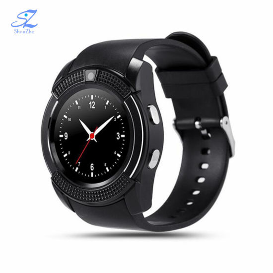 Bluetooth V8 Smart Watch Smartwatch Women/Men Phone Clock Call SIM TF Camera Clock Support Bt 4.0 for Ios Android Round Watch pictures & photos