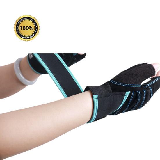Anti Slip Gel Pad Half Finger Cycling Gloves / Breathable Motorcycle Mountain Road Bike Gloves/Custom Cycling Gloves Bike Glove