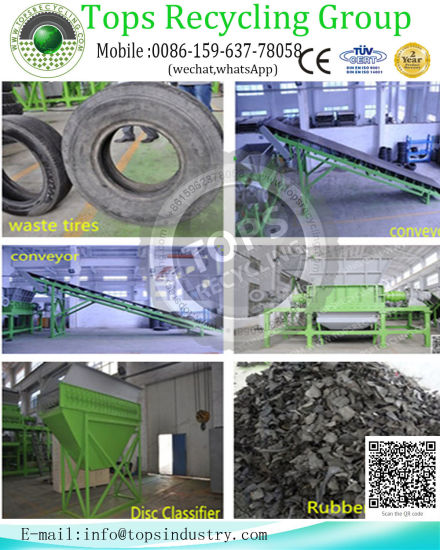 Fully Automatic Waste Tire Recycling Line Crumb Rubber Grainding Machine /  Waste Tire Recycle Equipment