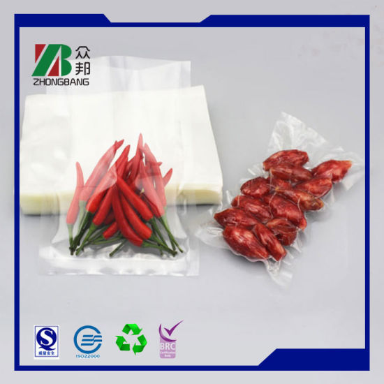 Promotional Cheap Price Plastic Vacuum Packaging Bag for Frozen Seafood Sausage Chicken