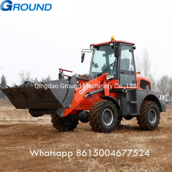 2t loader automatic wheel loader with grapple for farm