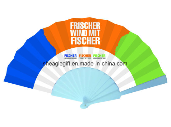 Chinese Colorful Traditional Plastic Personalized Folding Fan