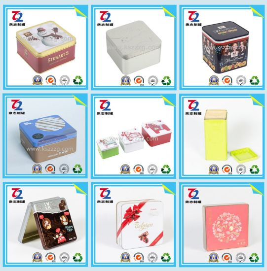 Sweet Square Tin Cans for Food/Gift/Candy Tin Can